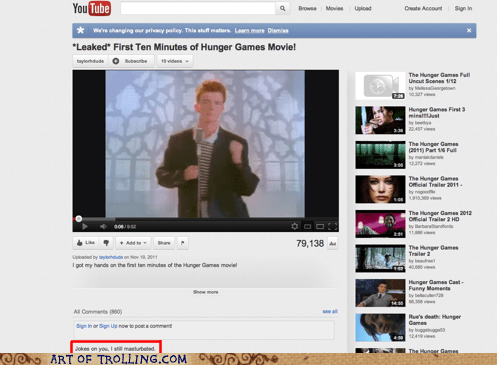 faptimes leaked rick roll youtube