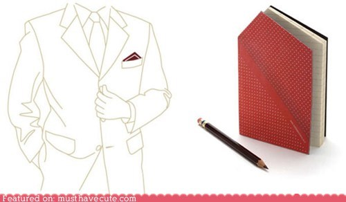 hankie menswear notebook paper pocket square - 5780867328