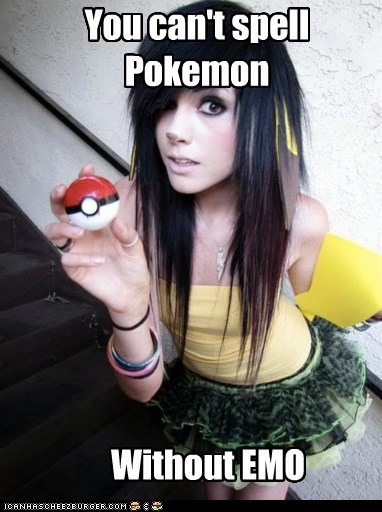 despair,emo,emolulz,pikachu,pokemon poser