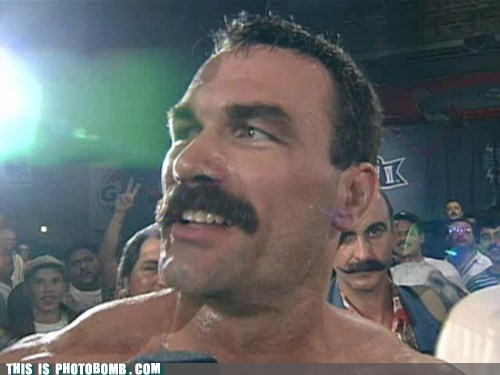 awesome fight manly mustache - 5781936128