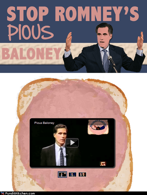 baloney internet Mitt Romney newt gingrich political pictures - 5782480640