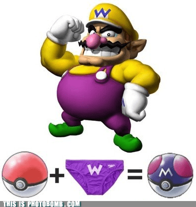 crossover master ball pokeball underwear wario - 5782489088