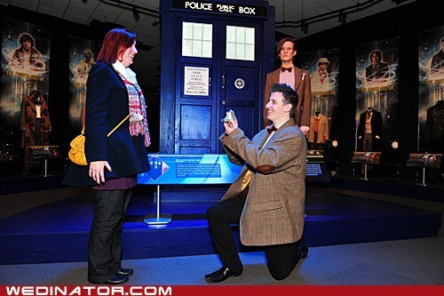 doctor who funny wedding photos geek Hall of Fame proposal tardis