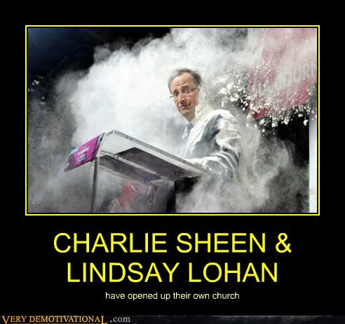 Charlie Sheen church hilarious lindsay lohan wtf - 5782812928