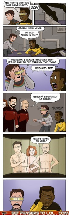 best of the week,comic,Geordi Laforge,jean-luc picard,Star Trek,visor,wesley crusher,william riker,x-ray vision
