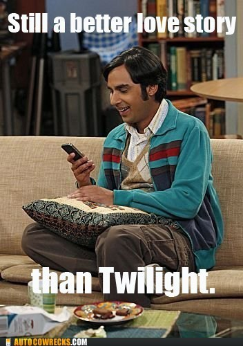 big bang theory,siri,still a better love story,television,twilight,vampires