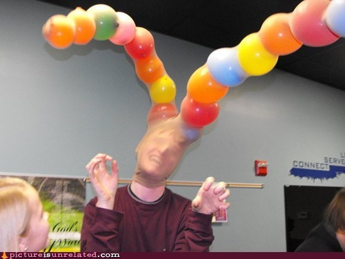 antenna,Balloons,bank robber,mask,wtf