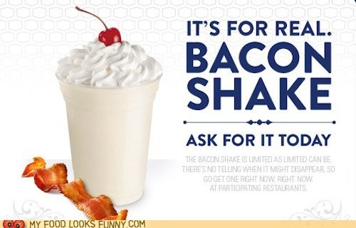 bacon ice cream jack in the box limited shake - 5783174656