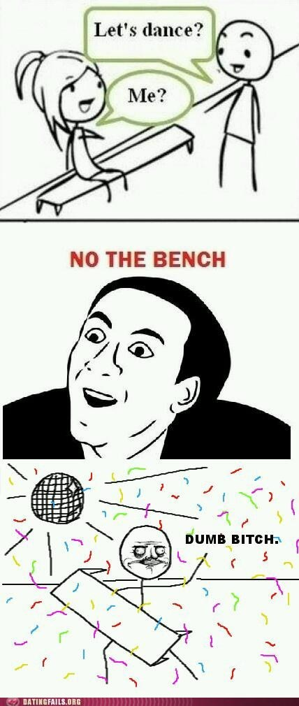 bench dancing dancing queen rage comic - 5783228160