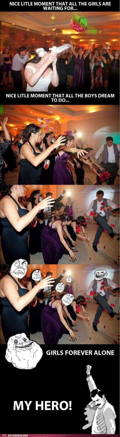 bouquet,break,cycle,dating fails,g rated,kick,rage comic,wedding