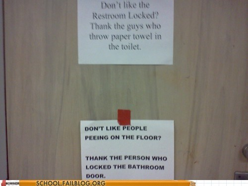 bathroom,notes,passive aggressive,sign,toilet