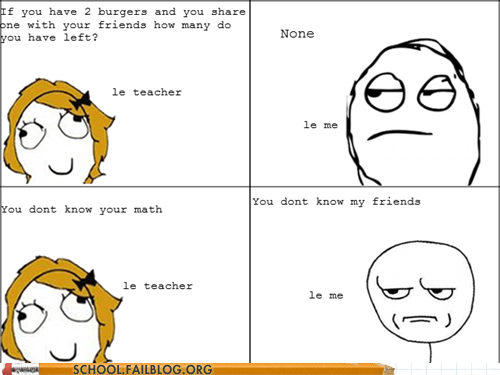 burgers,friends,math,rage comic,subtraction