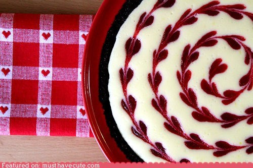 best of the week,cheesecake,epicute,hearts,swirl,Valentines day