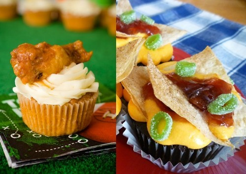 Buffalo Chicken Cupcakes,Kickass Cupcakes,Nacho Cupcakes,Super Bowl Sunday