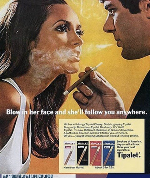 Ad blow it cigarettes in your face smoking woo girls - 5783341312