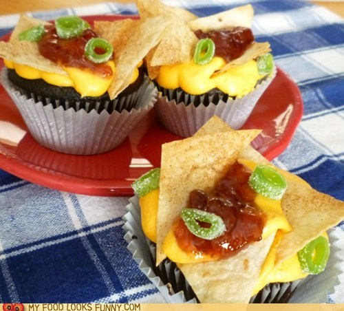 chips cupcakes frosting jam nachos sneaky sweets - 5783421184