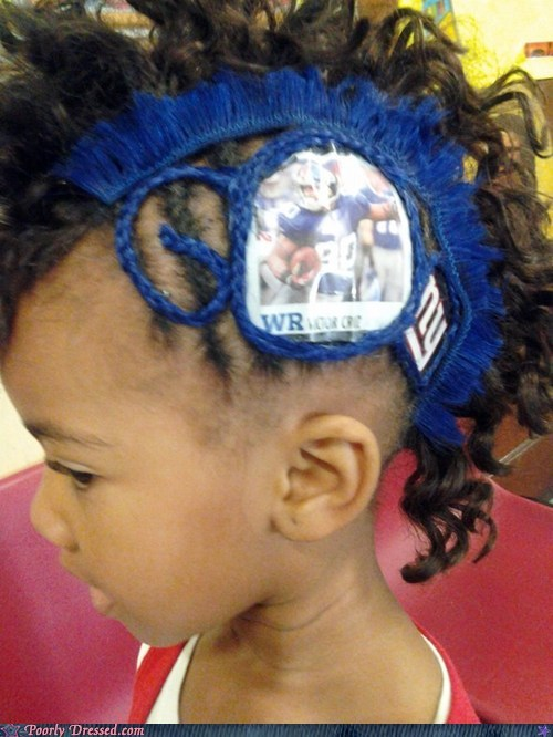 braided braids child football giants kid sooper bowl sports the Big Game - 5783502080