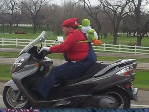 mario,motorcycle,video games,yoshi