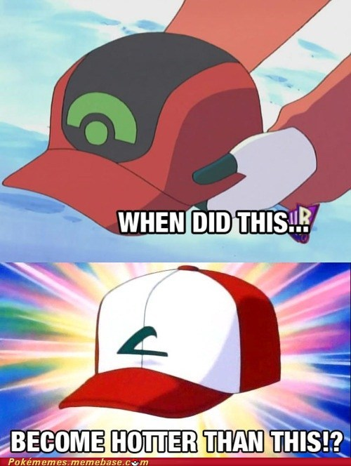 anime ash hat meme Memes nostalgia when did this become hott