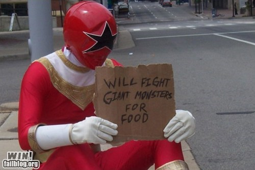 food,job,job market,nerdgasm,poor,power rangers,recession