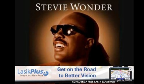 Ad,blind,juxtaposition,stevie wonder,youtube