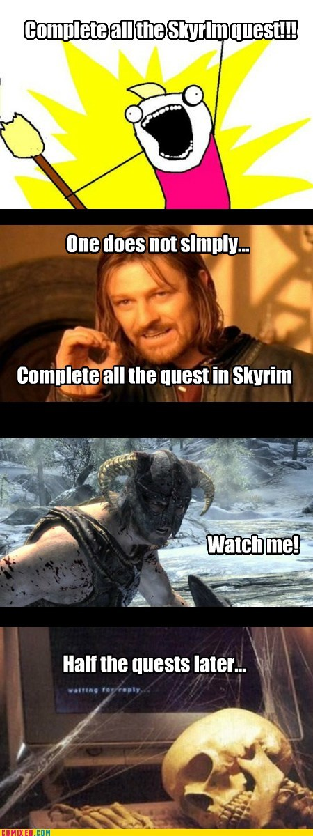 foolish mistake quests Skyrim video games