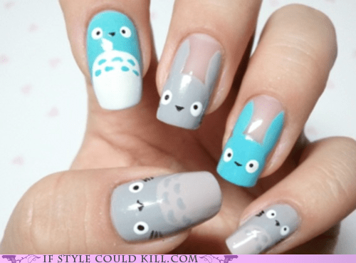 best of the week,cool accessories,nail art,nails,totoro
