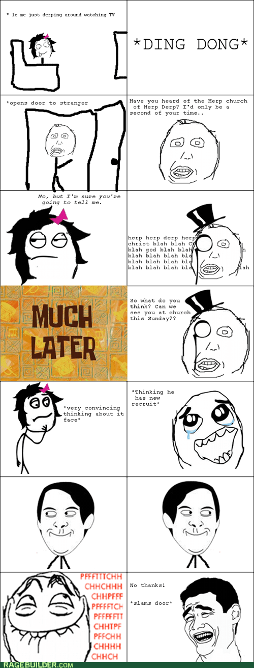 church door to door Rage Comics spiderpman