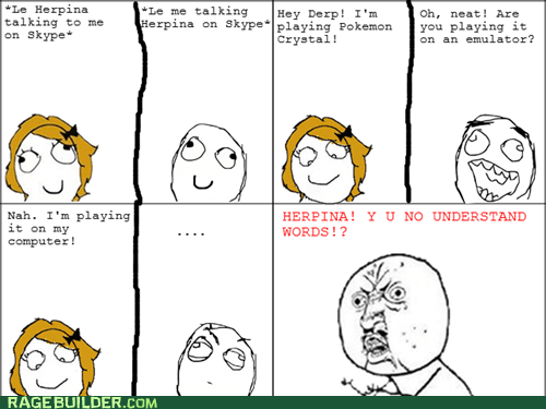 emulator,Pokémon,Rage Comics,Y U NO