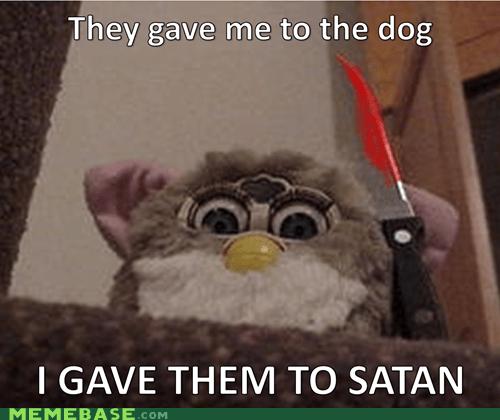 dogs furby gremlin Memes satan toys - 5784360960