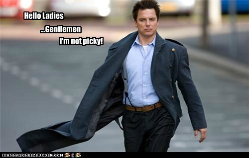 Captain Jack Harkness,gentlemen,john barrowman,ladies,picky,Torchwood