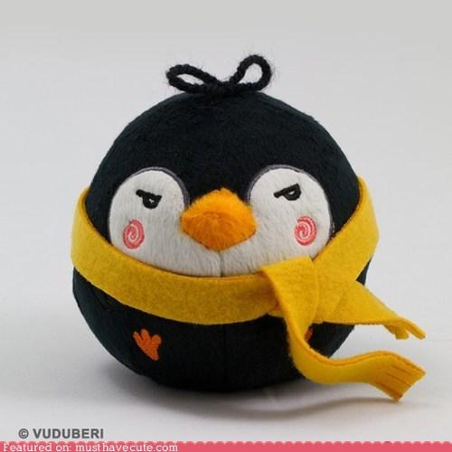 grumpy panguin Plush round scarf - 5785337344