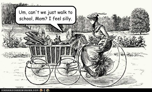 art bicycle children embarrassing historic lols kids moms moms always know school - 5785583104