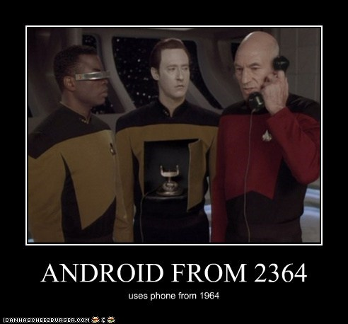 ANDROID FROM 2364 uses phone from 1964