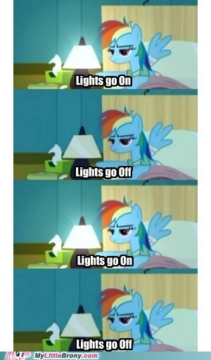bored light off light on rainbow dash Simpsons Did It TV - 5786512384