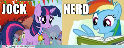 jock nerd rainbow dash TV twilight sparkle you can be anything - 5786661888