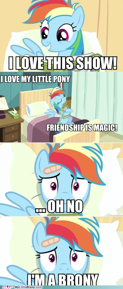 Bronies comics rainbow dash read it and weep realization - 5786961920