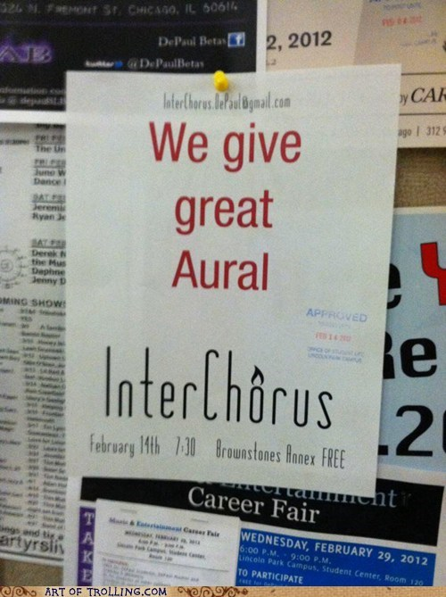 aural,IRL,oral,sign,that sounds naughty