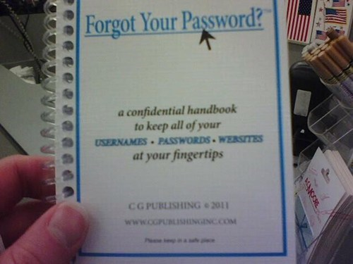 handy identity theft notebook password