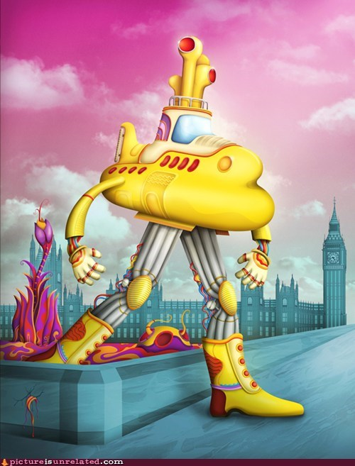 beattles big ben england wtf yellow submarine - 5787413248