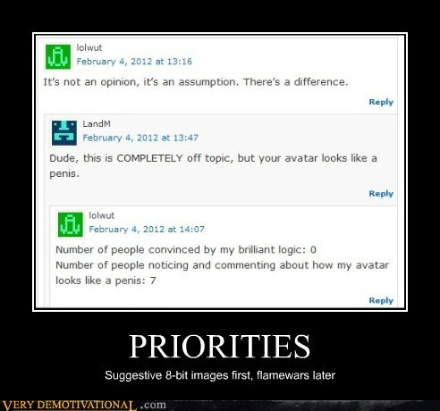 8 bit Flame war hilarious priorities - 5788060672