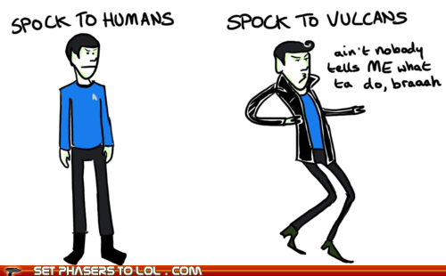 Spock according to Humans and Vulcans