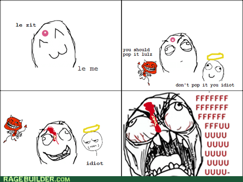 acne,fu guy,Rage Comics,zit