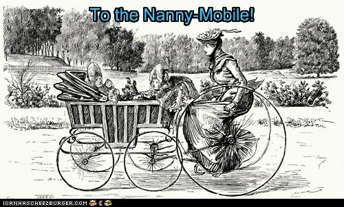 To the Nanny-Mobile!
