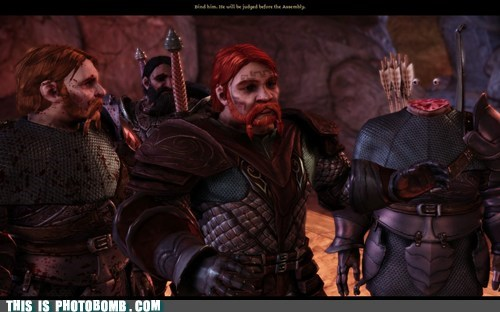 dragon age,glitches,no face,photobombs,surprise,video games