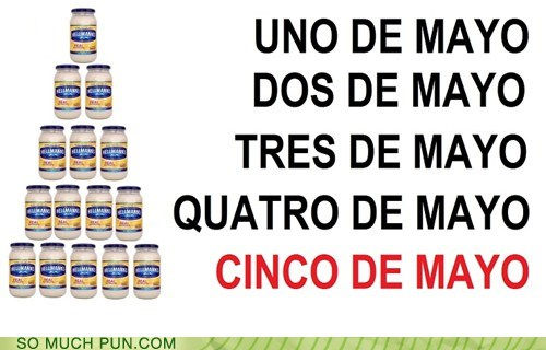 abbreviation,cinco de mayo,double meaning,Hall of Fame,literalism,may,mayo,mayonnaise,spanish