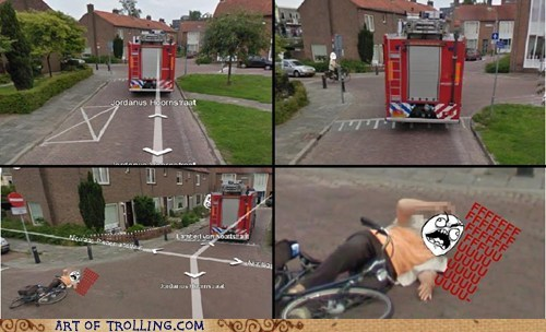 bike fall firetruck google map street view - 5790560256