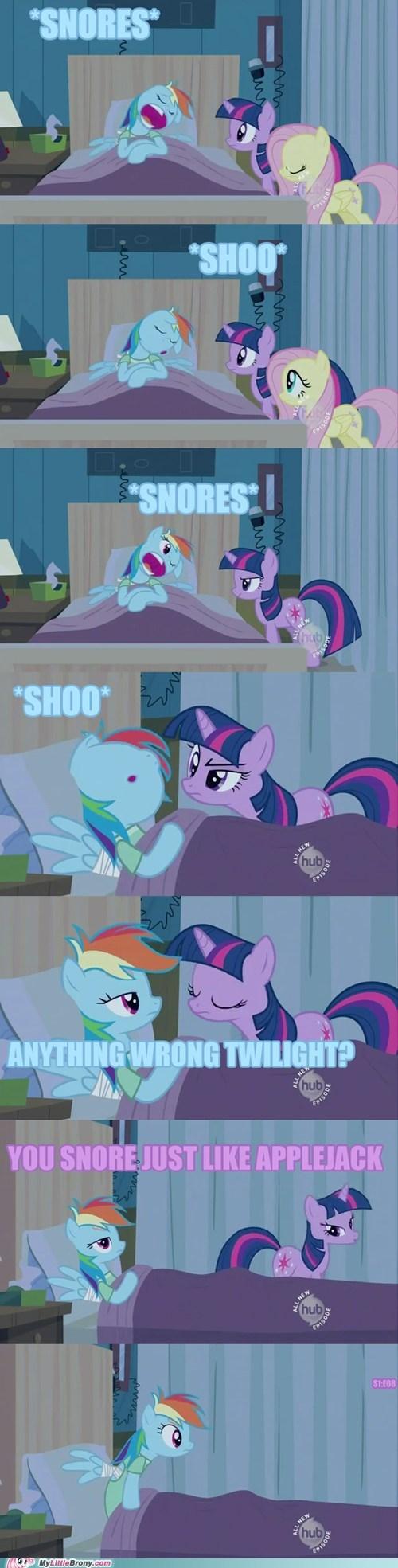 applejack comic comics rainbow dash snore voice actor - 5790688256