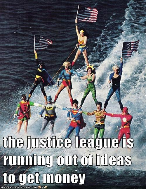 aquaman batman flash justice league robin skiing Super-Lols superman wtf - 5791761664