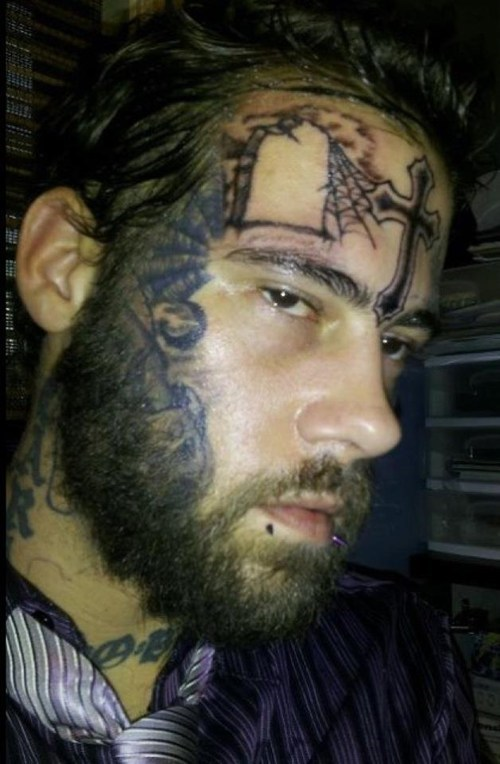 beard covering up face tattoos facetoos